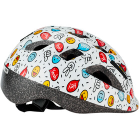 ABUS Smooty 2.0 Fietshelm Kinderen, white smiley